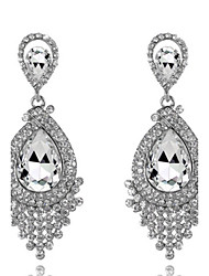 cheap -Women's Gold Blue White Crystal Earrings Classic Cubic Zirconia Earrings Jewelry White / Champagne / Burgundy For Party
