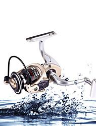 cheap -Spinning Reel / Carp Fishing Reels 5.2:1 Gear Ratio+12 Ball Bearings Hand Orientation Exchangable Sea Fishing / Bait Casting / Ice Fishing - KM2000,KM3000,KM4000,KM5000,KM6000,KM7000 / Bass Fishing