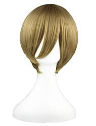 cheap -Gintama Okita Sougo Cosplay Wigs Men's Women's 14 inch Heat Resistant Fiber Brown Anime