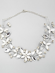 cheap -Silver Imitation Pearl Rhinestone Alloy Silver Necklace Jewelry For Wedding Engagement
