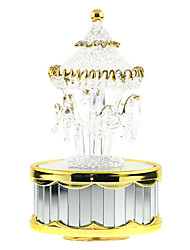cheap -Music Box Carousel Music Box Duck Piano Horse Carousel Unique ABS Women's Boys' Girls' Kid's Adults Graduation Gifts Toy Gift
