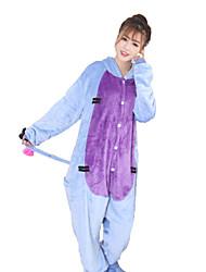 cheap -Adults' Kigurumi Pajamas Donkey Animal Onesie Pajamas Coral fleece Blue Cosplay For Men and Women Animal Sleepwear Cartoon Festival / Holiday Costumes