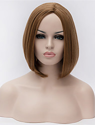 cheap -Synthetic Wig Straight kinky Straight kinky straight Straight Bob Wig Short Bleached Blonde Synthetic Hair Women's Middle Part Bob Natural Hairline Dark Brown