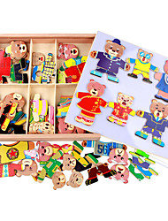 cheap -Wooden Six Cubs Locker Puzzle, Three-Dimensional Magnetic Spell Spell, Children Hand Grasp Plate 1.5 KG Toy Box