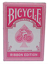 cheap -Pink Ribbon Bicycle Bicycle Poker Card Magic Poker Board Game Cards Pink 1 Or 2 Generation Each A Pair Of (Two)