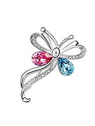 cheap -Women's Brooches - Crystal Butterfly, Animal Party Brooch Red / Blue / Navy / Red For Wedding / Party