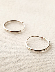 cheap -Women's Hoop Earrings Earrings Ladies Simple Style Fashion Earrings Jewelry Golden / Silver For Daily Casual Sports