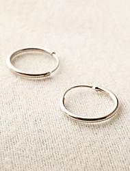 cheap -Women's Hoop Earrings Earrings Cheap Ladies Simple Style Fashion Earrings Jewelry Silver / Golden For Daily Casual Sports