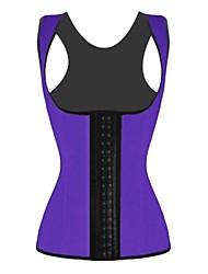 cheap -Women's Hook & Eye Underbust Corset / Overbust Corset / Plus Size - Solid Colored Black Brown Purple S M L