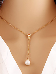 cheap -Women's Pendant Necklace Pearl Necklace Party Work Casual Fashion Pearl Imitation Pearl Alloy Gold Necklace Jewelry For Wedding Party Daily Casual