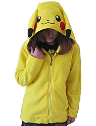 cheap -Adults' Kigurumi Pajamas Pika Pika Animal Onesie Pajamas Polar Fleece Yellow Cosplay For Men's Women's Animal Sleepwear Cartoon Festival / Holiday Costumes