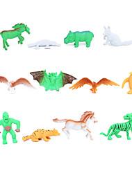 cheap -12 Solid Wildlife Eagle Platypus Horse Penguin Bat Orangutan Model Children'S Toys Textbooks