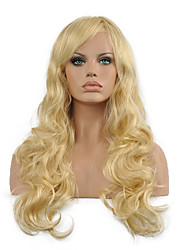 cheap -Synthetic Wig Curly Curly With Bangs Wig Blonde Long Blonde Synthetic Hair Women's Blonde