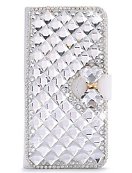cheap -Case For Huawei Honor 4X / Huawei Y550 / Huawei G7 Huawei P8 Lite / Huawei P8 / Huawei P7 Rhinestone / with Stand / Flip Full Body Cases Solid Colored Hard PU Leather