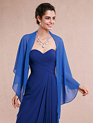 cheap -Sleeveless Shawls Chiffon Wedding / Party Evening Women's Wrap With Draping / Solid