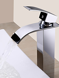 cheap -1279 Sprinkle® Sink Faucets - Contemporary Chrome Waterfall One Hole
