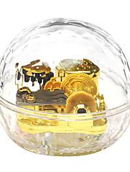 cheap -Acrylic Gold Creative Romantic Music Box for Gift