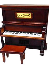 cheap -Wood Brown Creative Romantic Music Box for Gift