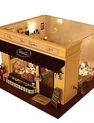cheap -Diy House Melody Of Love Cafe House Model House Villa Assembled Diy Manual Hot Style Good Gifts