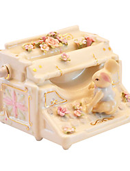 cheap -Pottery Yellow Creative Romantic Music Box for Gift