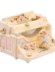 abordables -poterie jaune créative boîte de musique romantique pour le cadeau