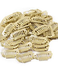 cheap -neitsi 80pcs i shape snap clips metal clips for hair extensions diy clip on 2 3cm black brown yellow