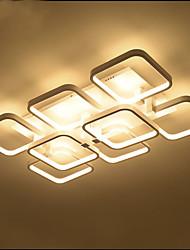 abordables -8 lumières géométriques encastrées à la lumière encastrées dans le luminaire encastrable au fini peint à led en métal ont conduit la source lumineuse 110-120v / 220-240v incluse