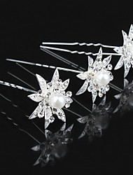 cheap -Pins / Barrettes Hair Accessories Alloy Wigs Accessories Women's 10pcs pcs 1-4inch cm Wedding / Party Classic Jewelry Crystal