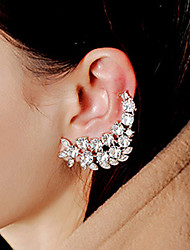cheap -Women's Cubic Zirconia tiny diamond Ear Cuff Climber Earrings Ladies Vintage Fashion Bridal Zircon Cubic Zirconia Rhinestone Earrings Jewelry White For Wedding Party Daily Casual Masquerade