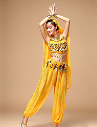 cheap -Shall We Belly Dance Women Top/Pants with Earrings Dance Costumes