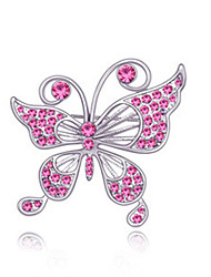 cheap -Women's Brooches - Crystal Butterfly, Animal Party Brooch Rose / Blue / Blue / Red For Wedding / Party