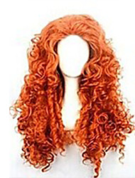 cheap -Cosplay Costume Wig Synthetic Wig Curly Kinky Curly Loose Wave Kinky Curly Curly Asymmetrical Wig Long Red Synthetic Hair 25 inch Women's Natural Hairline Red