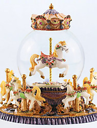 cheap -Music Box Carousel Music Box Unique Women's Girls' Kid's Adults Graduation Gifts Toy Gift