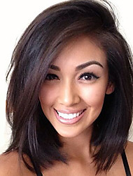 cheap -12inch brazilian remy hair full lace wig straight off natural color wig