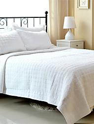 "cheap -3PC Quilt Sets Full Cotton Pure White Jacquard 92""W*106""L"