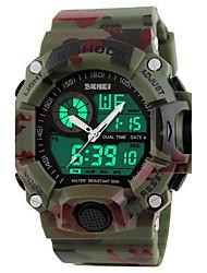 cheap -SKMEI Men's Sport Watch Wrist Watch Digital Watch Quartz Digital Rubber 30 m Water Resistant / Waterproof Alarm Calendar / date / day Analog - Digital Luxury Camouflage - Green Khaki / Chronograph