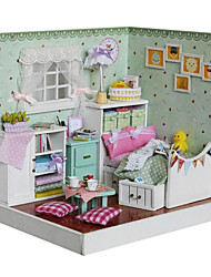 cheap -Model Building Kit Furniture DIY Wooden CUTE ROOM