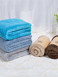 """cheap -2pc Pack High Quality Solid Coral Fleece Face Towel Wash Towel 13.4"""" by 31.5"""""""