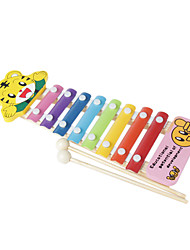 cheap -Wood Yellow Child Hand Knock Piano for Children All Musical Instruments Toy