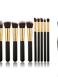 cheap -Professional Makeup Brushes Makeup Brush Set 11 Portable Professional Full Coverage Wood / Metal Makeup Brushes for Blush Brush Foundation Brush Eyeshadow Brush Concealer Brush Makeup Brush Set