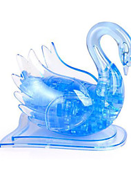 cheap -45 pcs Swan 3D Puzzle Jigsaw Puzzle Wooden Puzzle Crystal Puzzle Wooden Model Music ABS Kid's Adults' Toy Gift