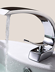 cheap -Bathroom Sink Faucet - Rotatable Chrome Centerset One Hole / Single Handle One HoleBath Taps