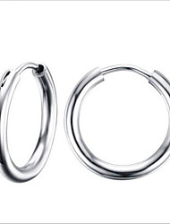 cheap -Women's Hoop Earrings Fashion Stainless Steel Earrings Jewelry Silver For Party Daily Casual