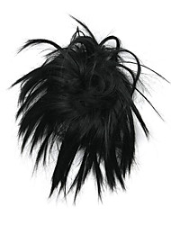 Недорогие -Парики из искусственных волос Шиньоны Классика Классика Стрижка каскад Парик Черный Искусственные волосы