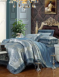 cheap -Duvet Cover Sets Luxury Silk / Cotton Blend Jacquard 4 PieceBedding Sets / >800