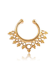 cheap -Nose Ring / Nose Stud / Nose Piercing Nose Piercing Ladies Unique Design Fashion Women's Body Jewelry For Daily Casual Hollow Out Stainless Steel Golden Silver Rose