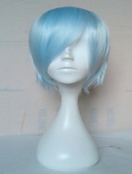 cheap -Synthetic Wig Cosplay Wig Straight Straight Wig Short Light Blue Synthetic Hair Women's Blue hairjoy