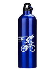 cheap -Bike Sports Water Bottle Portable Non Toxic BPA Free Eco-Friendly For Cycling Bicycle Road Bike Mountain Bike MTB Aluminium Alloy Silver Red Blue 1 pcs