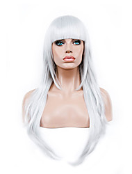 cheap -70 cm harajuku anime colorful cosplay wigs young long curly synthetic hair wig white synthetic wigs Halloween