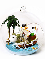 cheap -Chi Fun House Handmade Diy Model Toy Creative Gifts Diy Cabin Mini Sailing Adventures